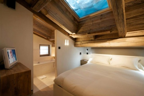 small bedroom decorating cabin in the woods mouintain retreat homesthetics luxurious-chalet-of-natural-wood-in-the-french-alps-1-554x369 (1)