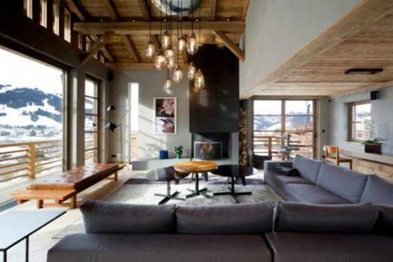 cabin in the woods mouintain retreat homesthetics luxurious-chalet-of-natural-wood-in-the-french-alps-1-554x369 (1)