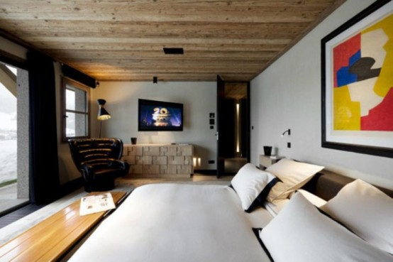 master bedroom decorating ideas cabin in the woods mouintain retreat homesthetics luxurious-chalet-of-natural-wood-in-the-french-alps-1-554x369 (1)