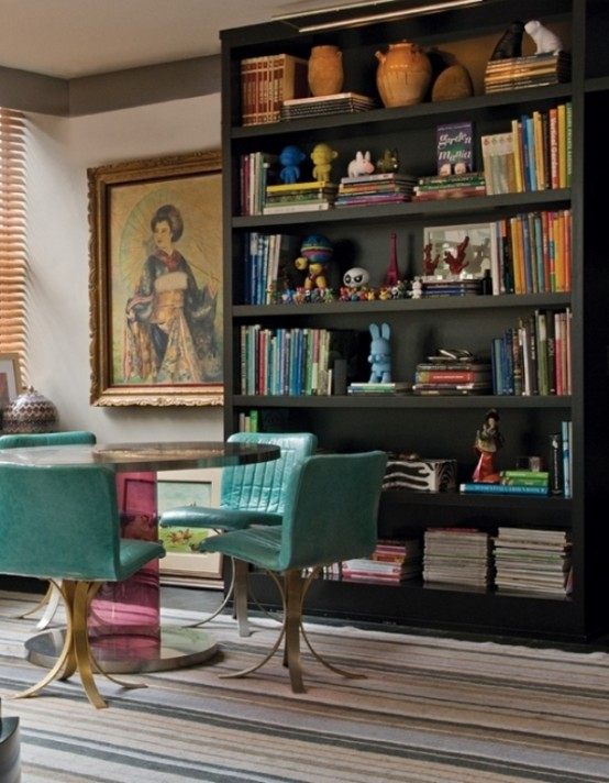 small dinning area in colorful-unusual-apartment-in-a-mix-of-styles-10-554x712
