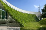 interior view of a curved facade Fluid Organic & Sustainable Assets Featured In a Japanese Home by Hideo Kumaki Architect Office