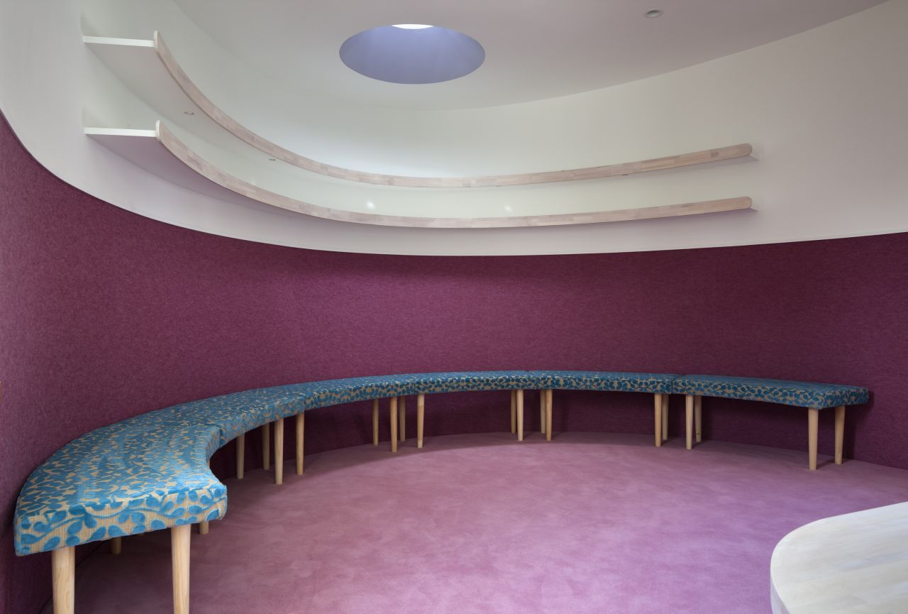 quiet purple room Fluid Organic & Sustainable Assets Featured In a Japanese Home by Hideo Kumaki Architect Office
