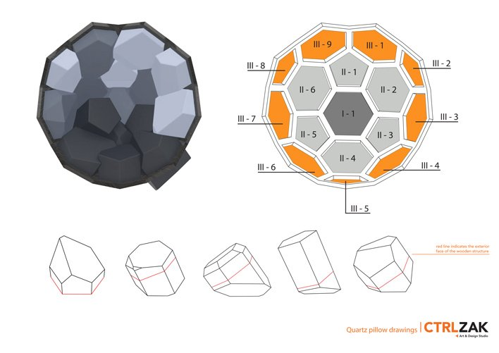 Versatile Modular Furniture – Quartz Armchair by Davide Barzaghi and CTROL ZAK plans and concept