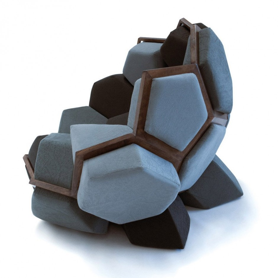 Versatile modular furniture quartz armchair by davide for Interesting couches