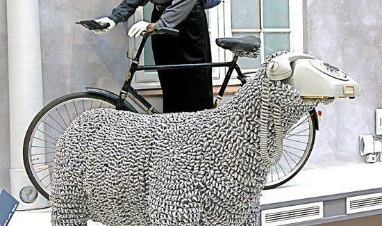 Jean Luc Cornec's Re-purposed Rotary Phone Sheep