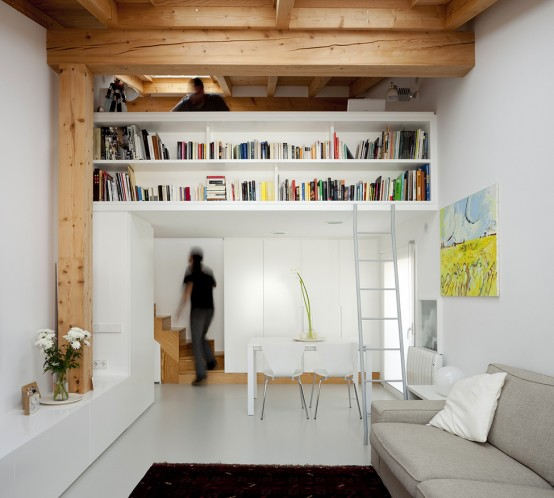 Creative Space Saving Solution for Small Flats by Marta Badiola ...