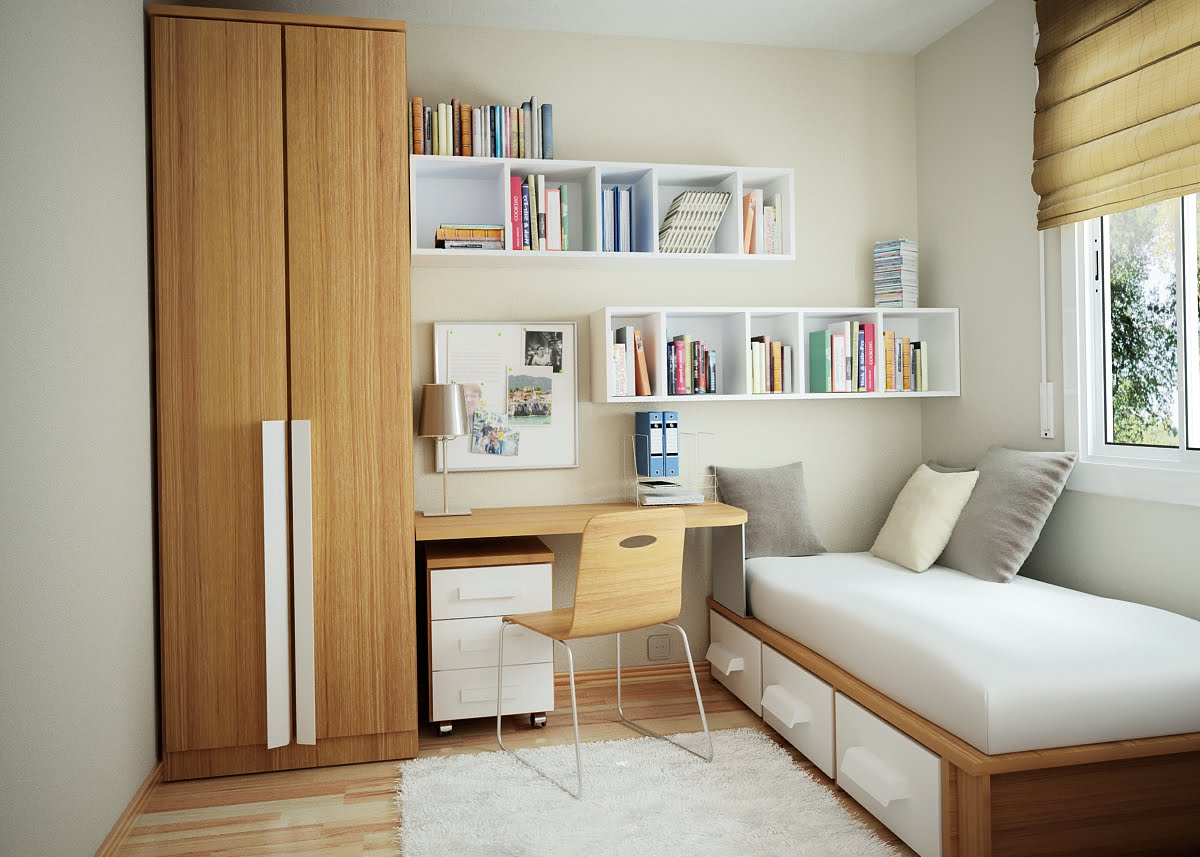 10 Tips on Small Bedroom Interior Design clean cozy atmosphere white interior design tidy space : interior-for-small-bedroom - designwebi.com
