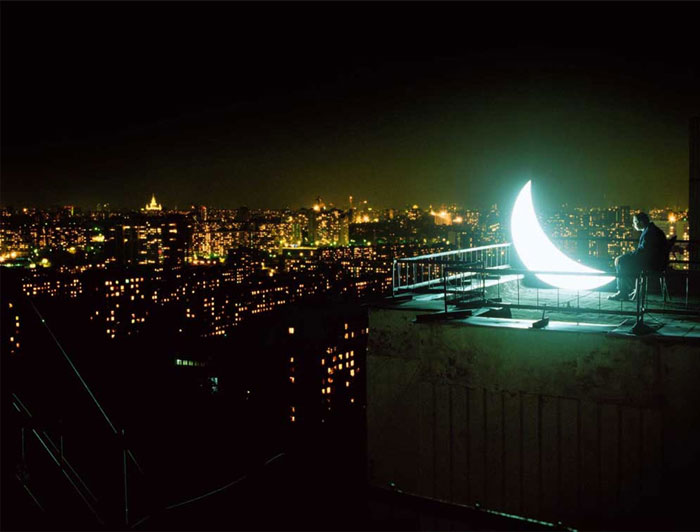 The Man who Brought the Light to You: the Private Moon Experiment contemporary design