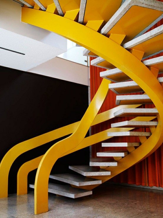 12 One of a Kind Round Staircase Designs For Your Modern Mansion colorful