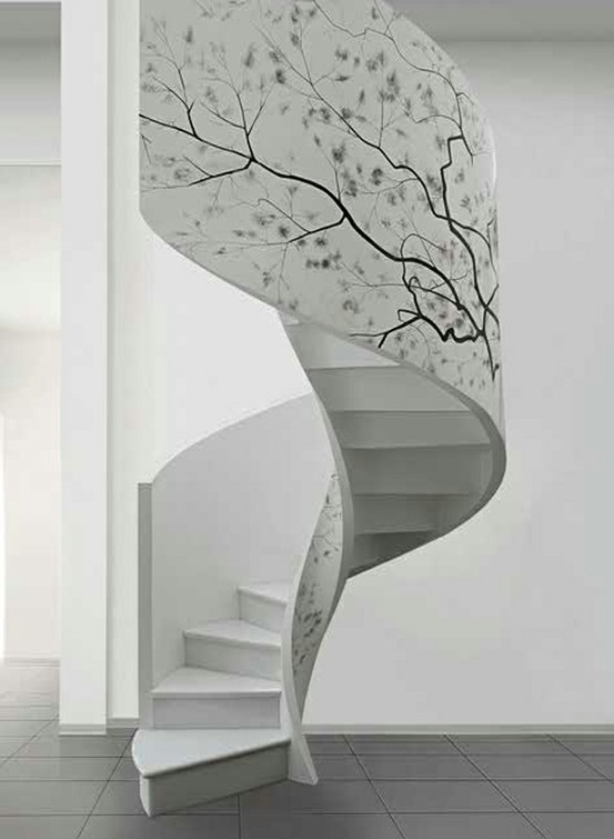 12 One of a Kind Round Staircase Designs For Your Modern Mansion beauty