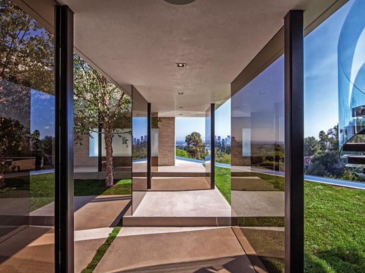 passage area in the 1201 Laurel Way-Cliff View Luxurious Modern Mansion in Beverly Hills California