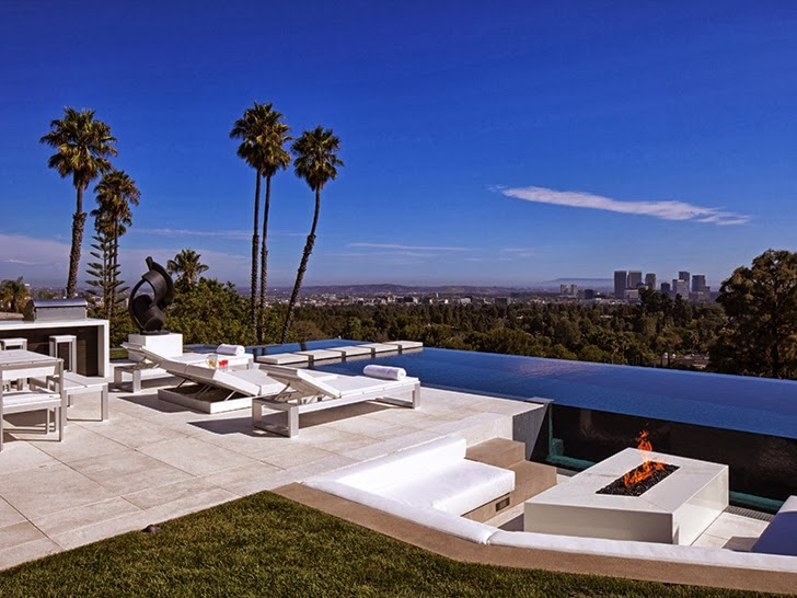 backyard landscaping ideas that includes a swimming pool 1201 Laurel Way-Cliff View Luxurious Modern Mansion in Beverly Hills California