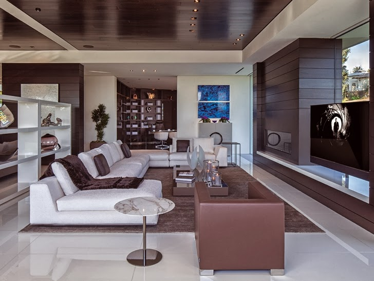 perfect living room 1201 Laurel Way-Cliff View Luxurious Modern Mansion in Beverly Hills California
