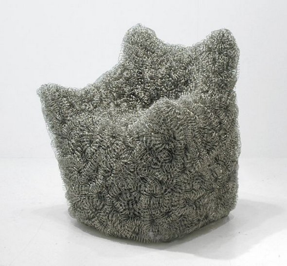 13 Innovative Sitting Places to Relax wire chiar