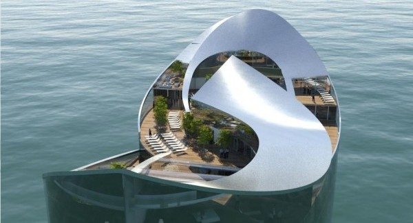 floating hotel 2022 Wold Cup Qatar`s Hosting Idea-Floating Hotels-Experimental Architecture  (3)