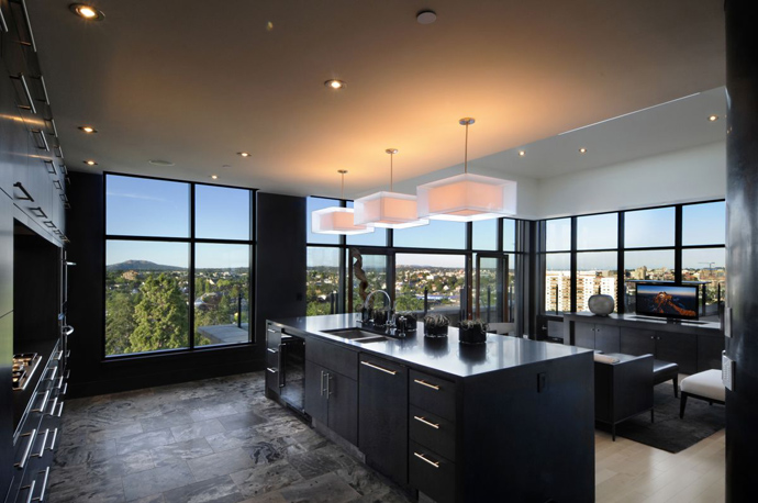 Austonishing Penthouse Apartment with 360-degree Views Over Victoria, Canada modern mansion (23)