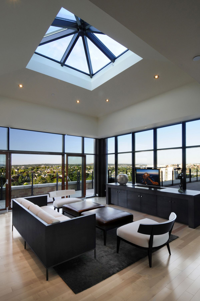 views to the Austonishing Penthouse Apartment with 360-degree Views Over Victoria, Canada modern mansion (23)
