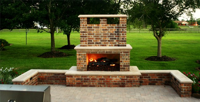 Genial Brick Backyard Lanscaping Ideas Fireplaces Homesthetics