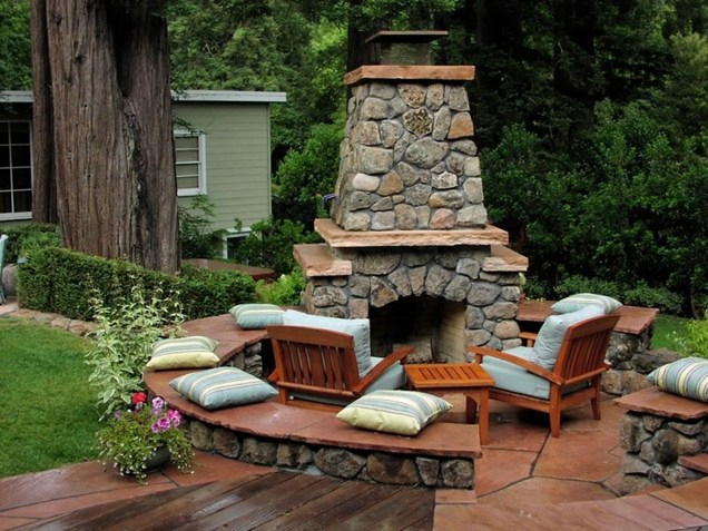 Backyard Landscaping Ideas Exterior Fireplaces Meant To