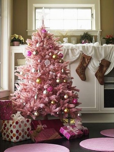 Beautiful Christmas Trees to Cheer Your Holidays pink tree