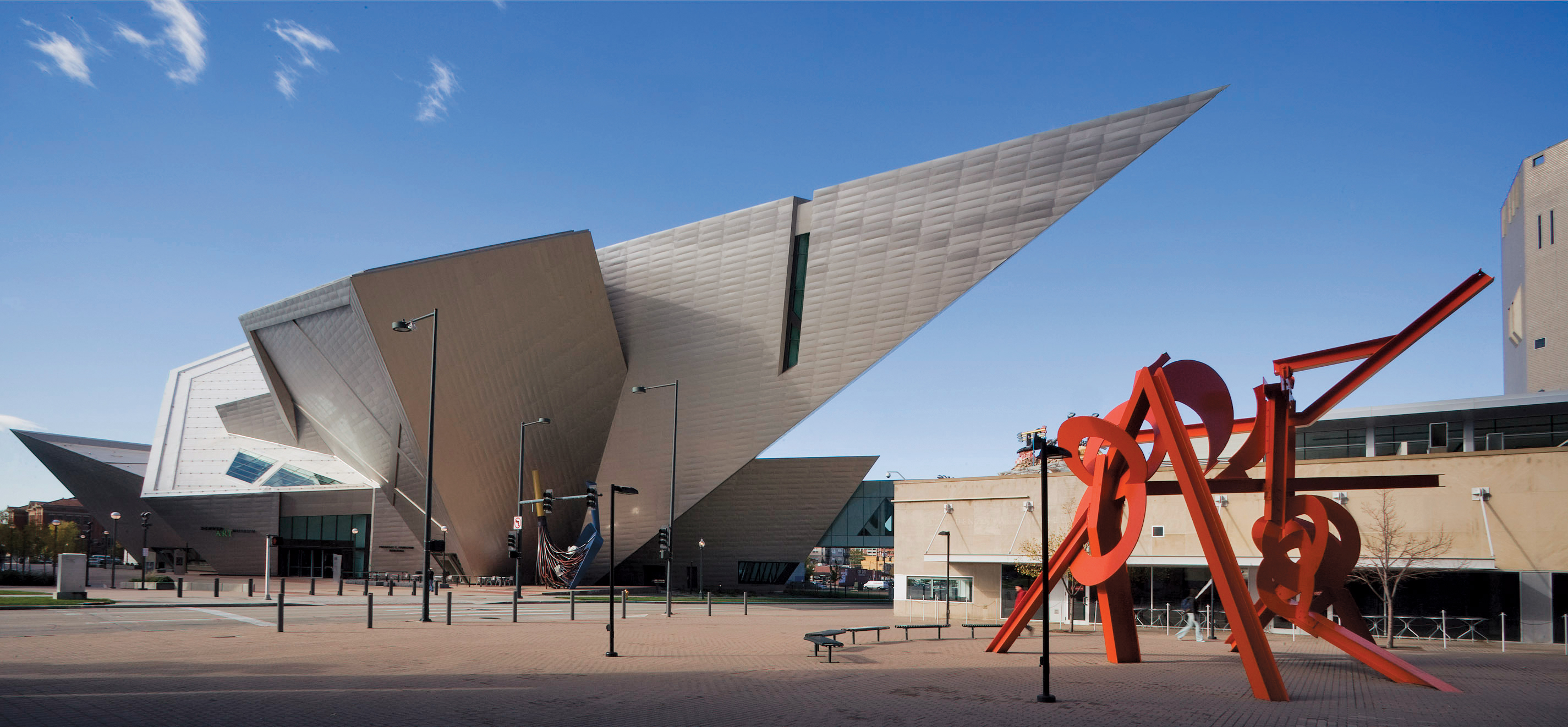 bold contemporary design the denver art museum by daniel