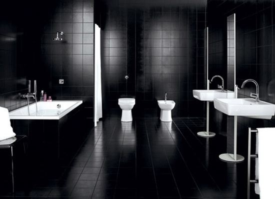 Black Bathroom bold contemporary interior design ideas: black bathroom