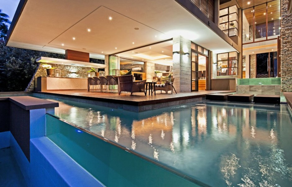 backyard landscaping ideas swimming pool design Contemporary Moden South African SGNW House by Metropole Architects  (4)