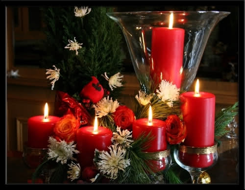 red Creative&Inspiring Modern Christmas Candles Decorations (1)
