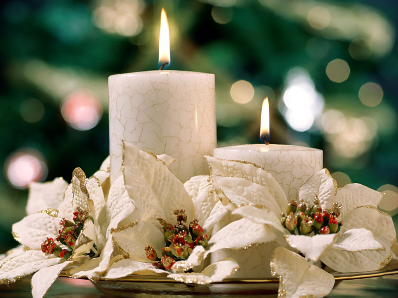white candles Creative&Inspiring Modern Christmas Candles Decorations (1)