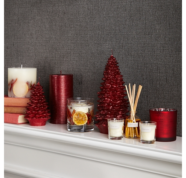 grey red and white creativeinspiring modern christmas candles decorations
