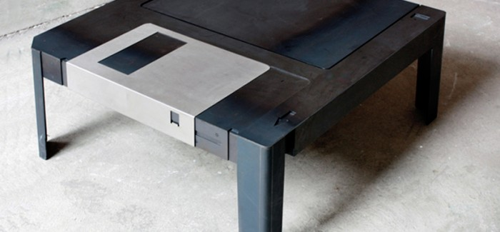 Creative Floppy Disk Coffee Table Designed by Axel van Exel and Marian Neulant