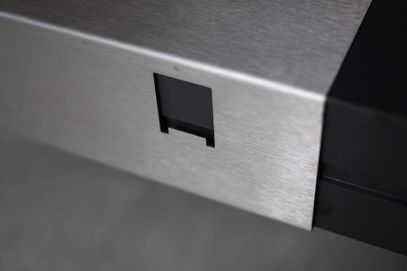 Detail Shot Creative Floppy Disk Coffee Table Designed by Axel van Exel and Marian Neulant