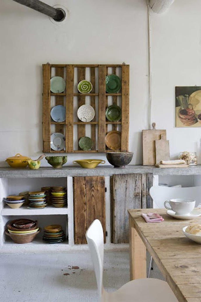 kitchen support Creative & Inspiring Modern Methods of How to Recycle Wooden Pallets homesthetics (1)