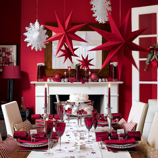 full red creativeinspiring christmas dinner tables settings and decoration ideas for any modern interior design homesthetics - Christmas Dinner Decorations