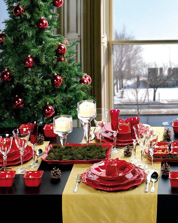 black and red Creative&Inspiring Christmas Dinner Tables Settings and Decoration Ideas for any modern interior design homesthetics (1)