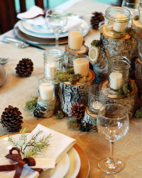 natural wood Creative&Inspiring Christmas Dinner Tables Settings and Decoration Ideas for any modern interior design homesthetics (1)