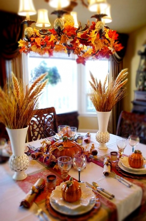 Superb DIY  Welcome The Fall With Autumn Leaves In Home Décor