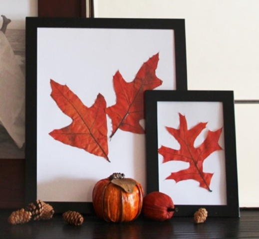 DIY -Welcome the Fall with Autumn Leaves in Home Décor