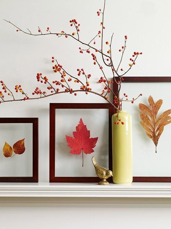 Lovely DIY  Welcome The Fall With Autumn Leaves In Home Décor
