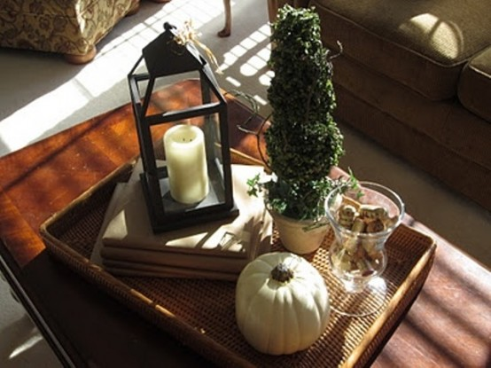 jack`o`lantern DIY -Welcome the Fall with Merry Decorations for Your Coffee Table  contemporary interior design ideas homesthetics (42)
