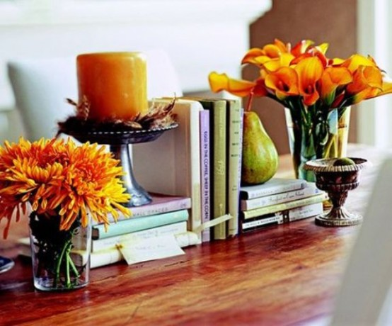 bookings and flowers DIY -Welcome the Fall with Merry Decorations for Your Coffee Table  contemporary interior design ideas homesthetics (42)