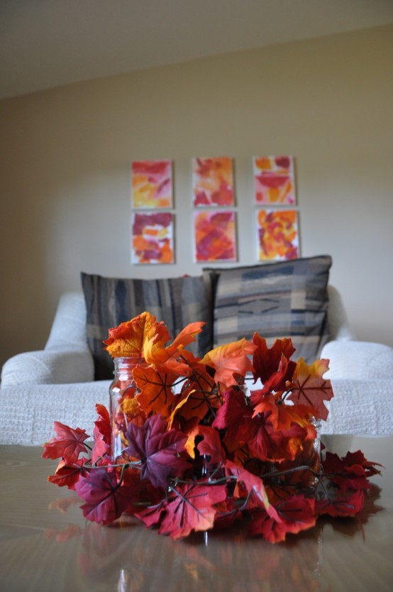 simple DIY -Welcome the Fall with Merry Decorations for Your Coffee Table  contemporary interior design ideas homesthetics (42)