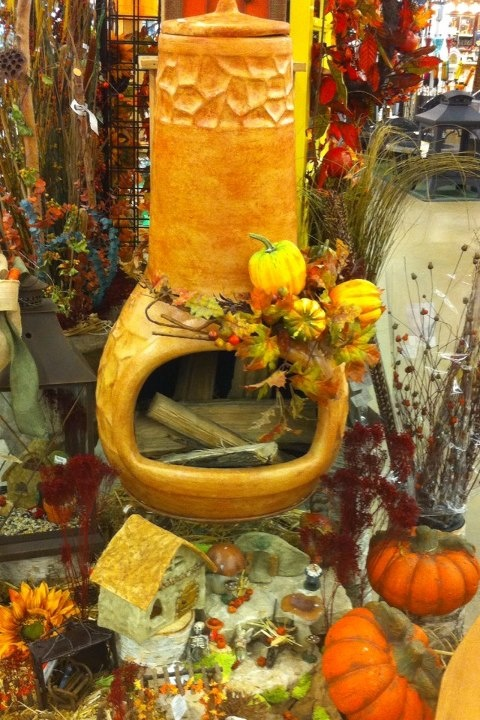 natural chimney in DIY -Welcome the Fall with Warm and Cozy Patio Decorating Ideas homesthetics (41)