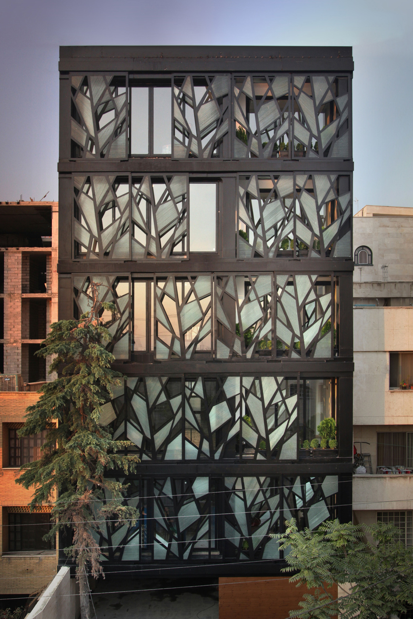 main facade of a building Designed to Express Our Irrepressible Desire danial building reza sayadian and sara kalantary homesthetics (10)