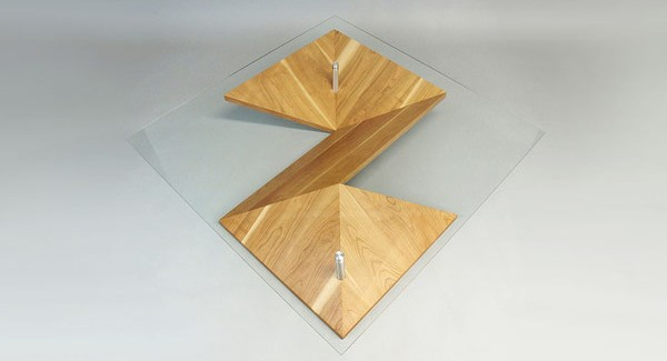view from above Elegant Exquisite Highly Customizable Origami Coffee Table by Martin Pitonak homesthetics (1)