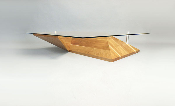 eye level view of the Elegant Exquisite Highly Customizable Origami Coffee Table by Martin Pitonak homesthetics (1)