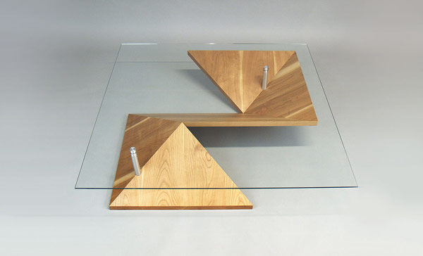 perspective view over Elegant Exquisite Highly Customizable Origami Coffee Table by Martin Pitonak homesthetics (1)