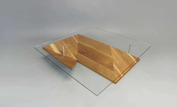 L shaped Elegant Exquisite Highly Customizable Origami Coffee Table by Martin Pitonak homesthetics (1)