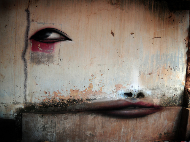 wall painting on the Experimental Distorted Street Faces by Andre Muniz Gonzaga homesthetics (1)