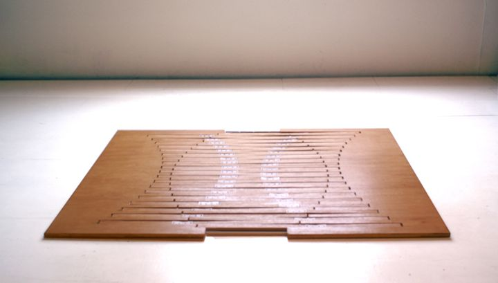 flat Experimental Furniture-Kirigami Inspired Rising Table designed by Robert van Embricqs (1)